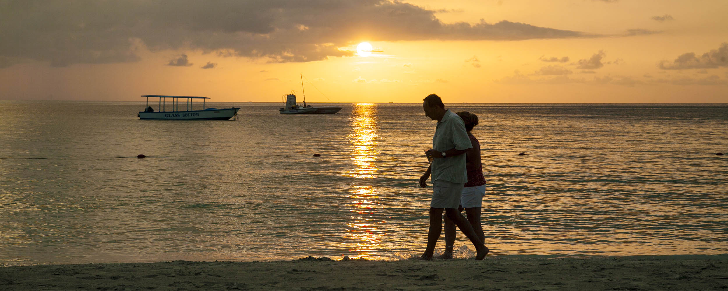 Sunset Walk Along Negril Beach, Negril Jamaica